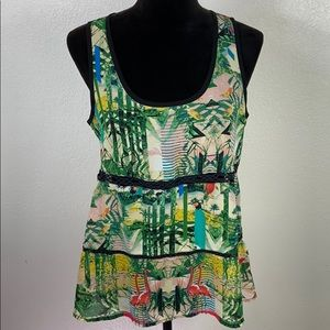 🔥5/$20 [NICOLE MILLER] Tropical Paradise Tank Top